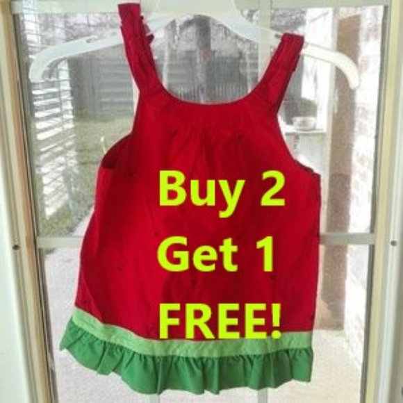 Gymboree Other - SALE! Gymboree NEW Watermelon Ruffle Tank Top sz 8